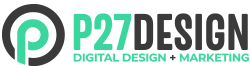 P27 Design and Digital Marketing Logo